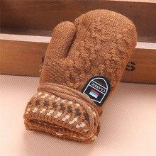 Baby Warm Winter Gloves Kids Children Thicken Soft Wool Spring Keep Warm Fingerless Wrist Gloves Mittens Long Ropes Hot Guantes