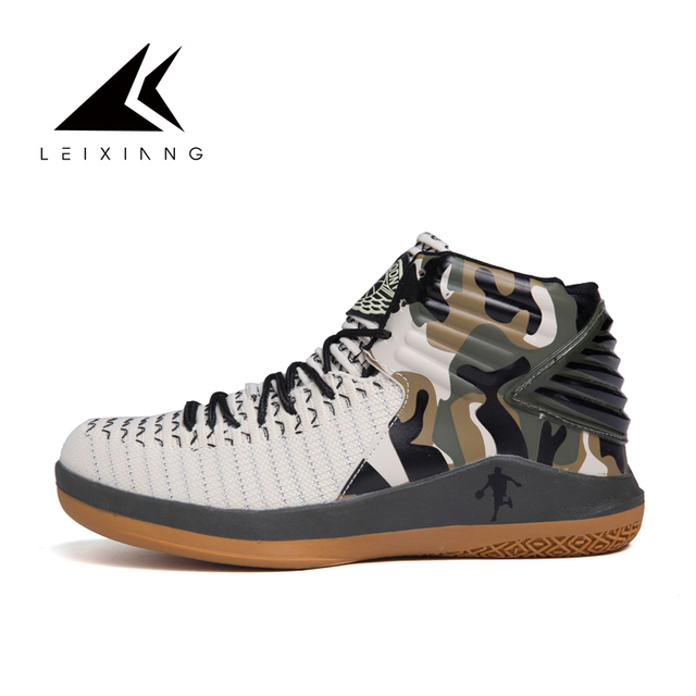 76abe307c07 Latest Camouflage Basketball Shoes Men Ankle Boots Outdoor Athletic Sport  Shoes Hombre Lace-up basket homme baloncesto Shoes