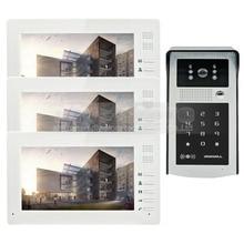 DIYSECUR 1024 x 600 7 inch TFT LCD Monitor Video Door Phone Video Intercom Doorbell 300000 Pixels Camera RFID Reader + Password