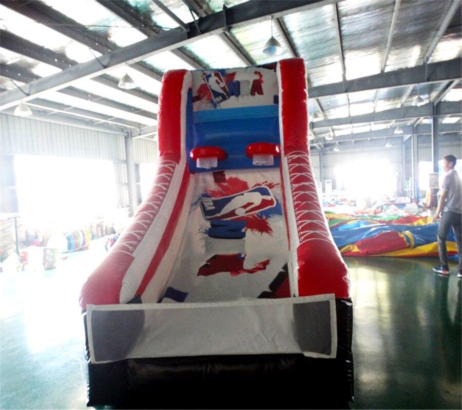 Gonflable de basket-ball gonflable jeu de sport PVC pour intérieur et extérieur