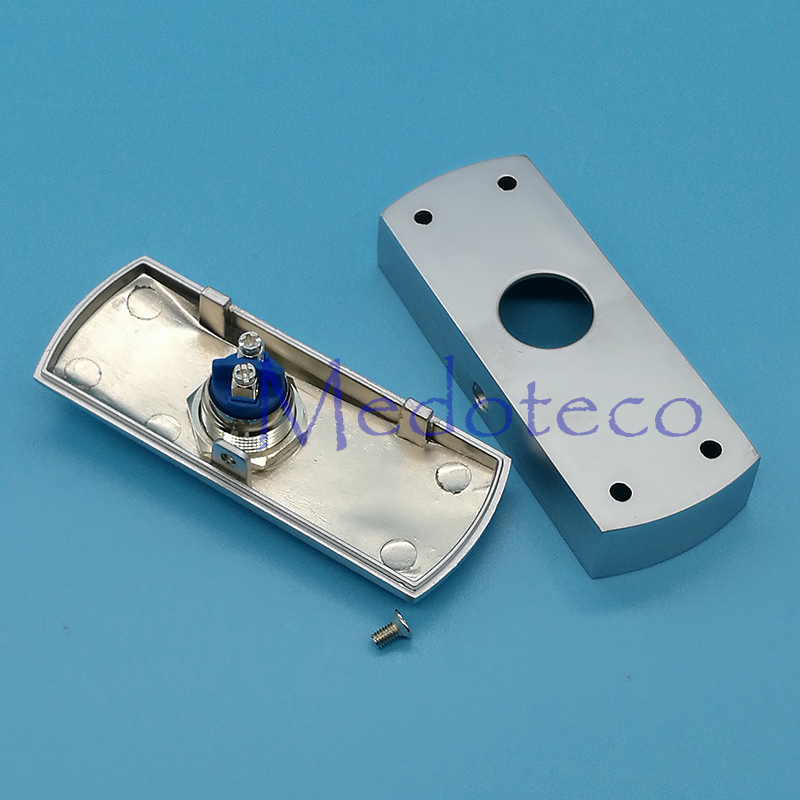 Wholesale 10pcs High Quality Metal Exit Switch Button For Access Control System Slim Size No/com Door Exit Button Door Release