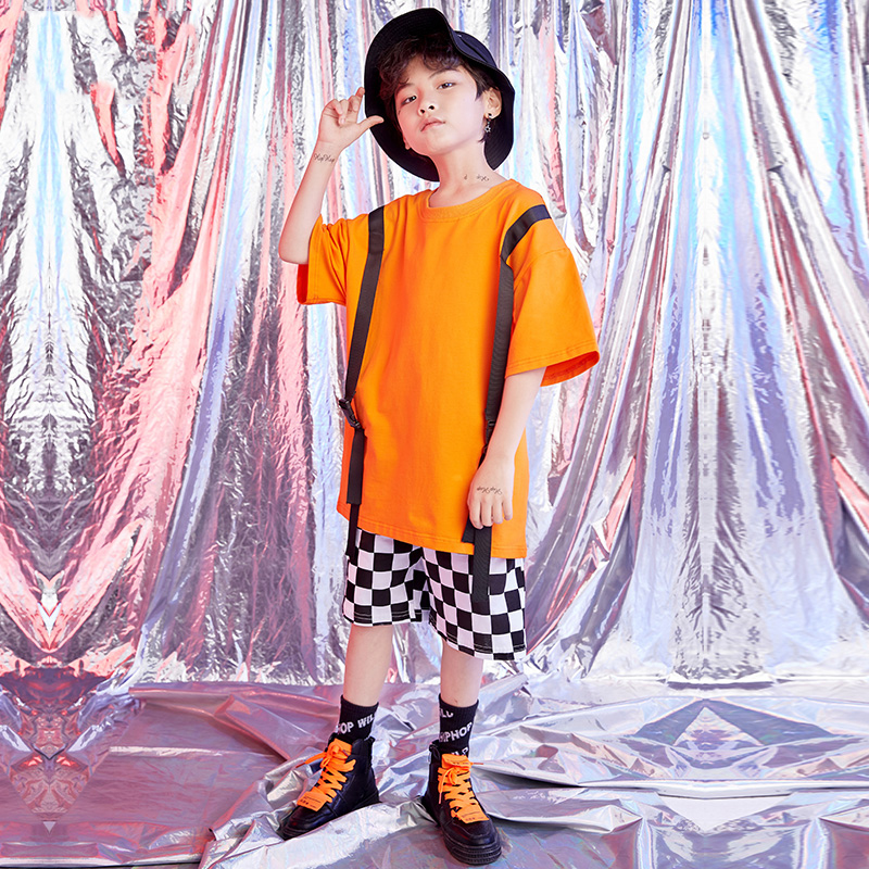 New Hip Hop Costumes Kids Ballroom Jazz Dance Competition Costume Summer Performance Dance Wear Children Costume ClothingDQS1524
