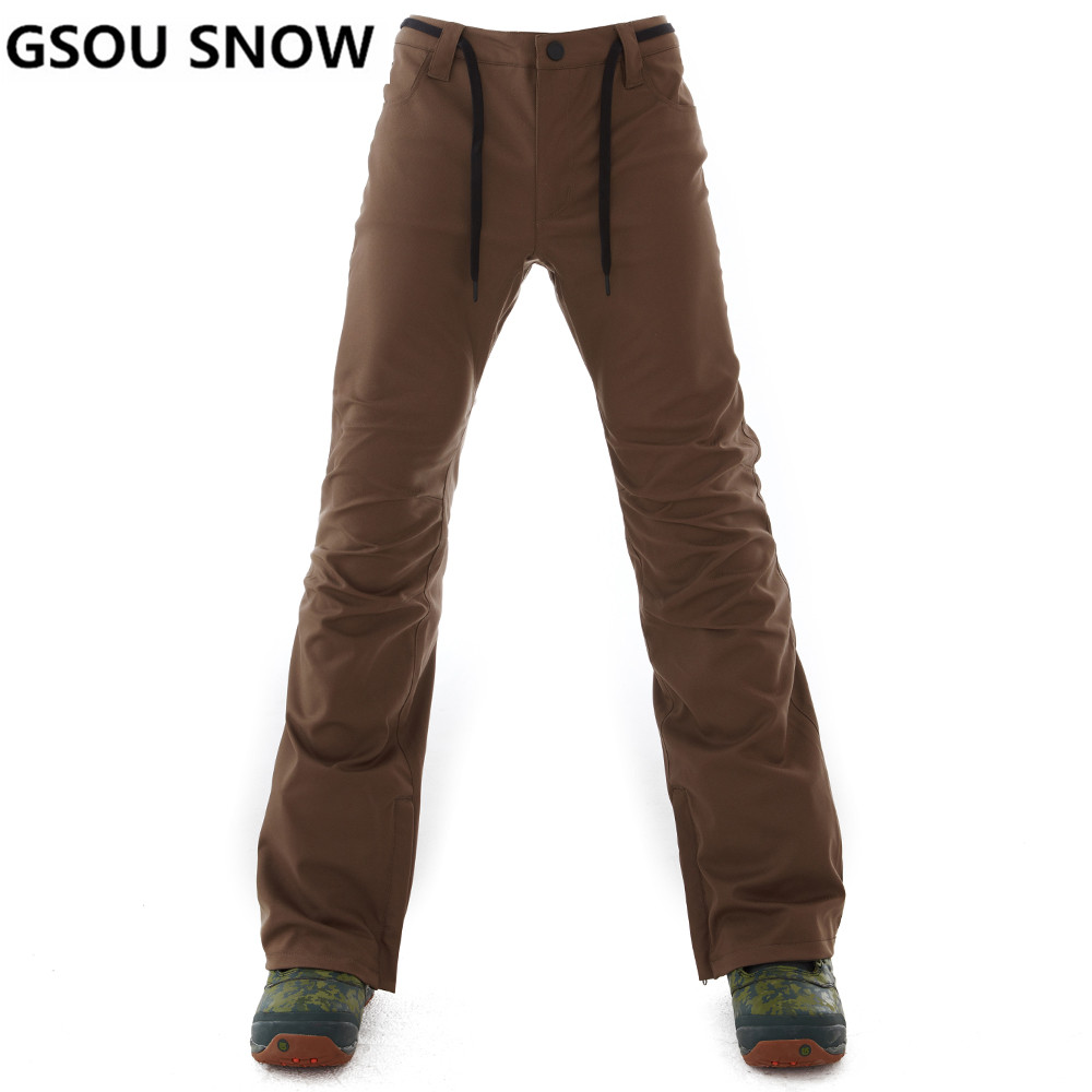 GSOU NEIGE Pantalons de Ski de Marque Hommes Étanche Snowboard Pantalon Plus La Taille D'hiver Ski Snowboard Neige Pantalon Mâle Sport En Plein Air