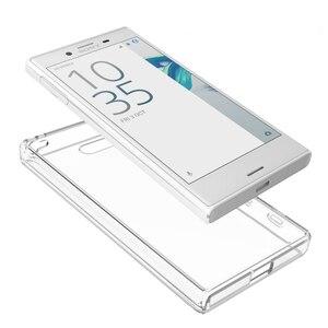 Image 4 - Mềm Silicon TPU/PC Trường Hợp Đối Với Sony Xperia X Nhỏ Gọn Fundas Coque Chống Sốc Pha Lê Rõ Ràng Vỏ Bìa Cứng Trở Lại đối với Sony F5321
