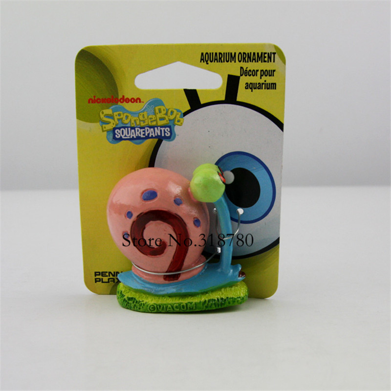 NiCE 5cm /2'' H Small SpongeBob Gary Snail Home Fish