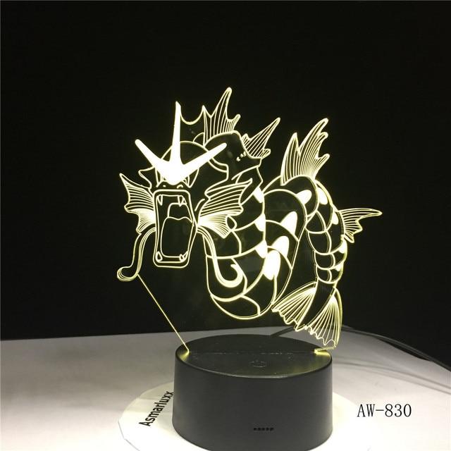 Dinossauro Dragão Chifre Lâmpada 3D USB Cores de LED Decoração Do Feriado de Iluminação Mesa de Luz Da Noite Animal Brinquedo do Miúdo Presente Da Novidade Dropship AW-830