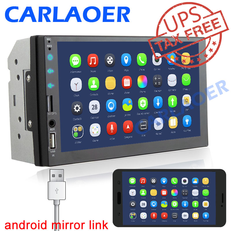 2 Din Car radio 7 HD Player 2Din Touch Screen Car Video Multimedia Players Audio Stereo Mirror Link for carplay Android phone