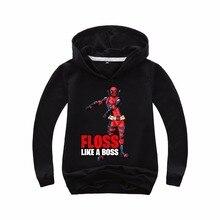 FLOSS LIKE A BOSS/ г.; летние топы для мальчиков с супергероями, Веном, дэдпулом; толстовка с капюшоном; Детские футболки; одежда из хлопка