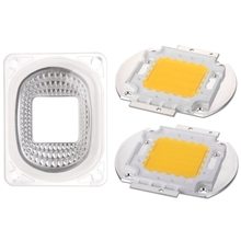 цена на LED Lens Reflector For LED COB Lamps PC lens+Reflector+Silicone Ring Cover shade