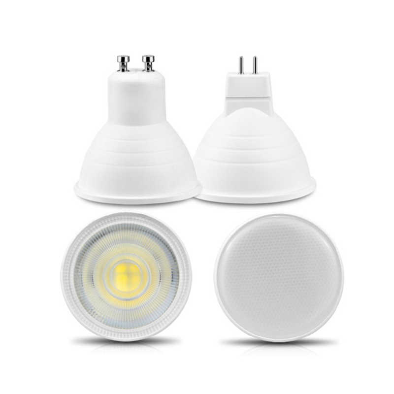 Newest GU10 MR16 LED Bulb Spotlight 220V 6W COB Chip Beam Angle 120/24 Plastic Aluminum Cool/Warm White Spot light Table Ceiling