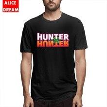 цена Men's Quality Hunter X Hunter Logo Merchandise T-shirt Fashionable T Shirt 100% Cotton Free Shipping Camiseta онлайн в 2017 году