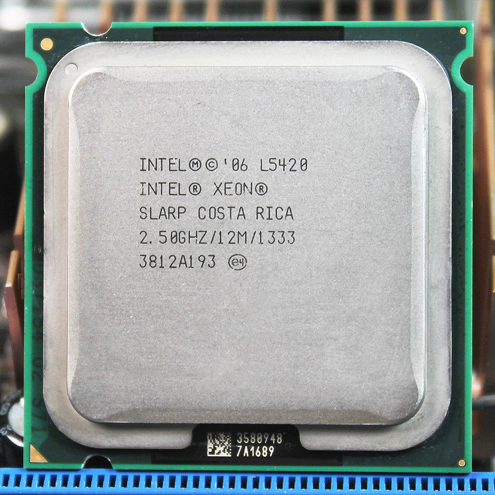 Intel Xeon L5420 LGA775 CPU 2 5GHz LGA771 L2 Cache 12MB Quad Core work on 775
