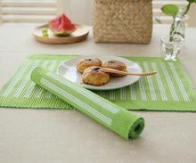 Eco-friendly Cotton Linen Placemat Fabric Dining Table Mats Rugs Stripe Table Pad Coaster Table Decoration Kitchen wares