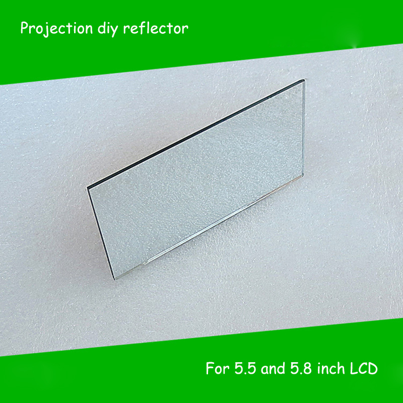 1 piece 150x79x2mm Mini Projector diy Reflector Projector Mirror accessories parts for 5.5 inch and 5.8 inch led projection diy