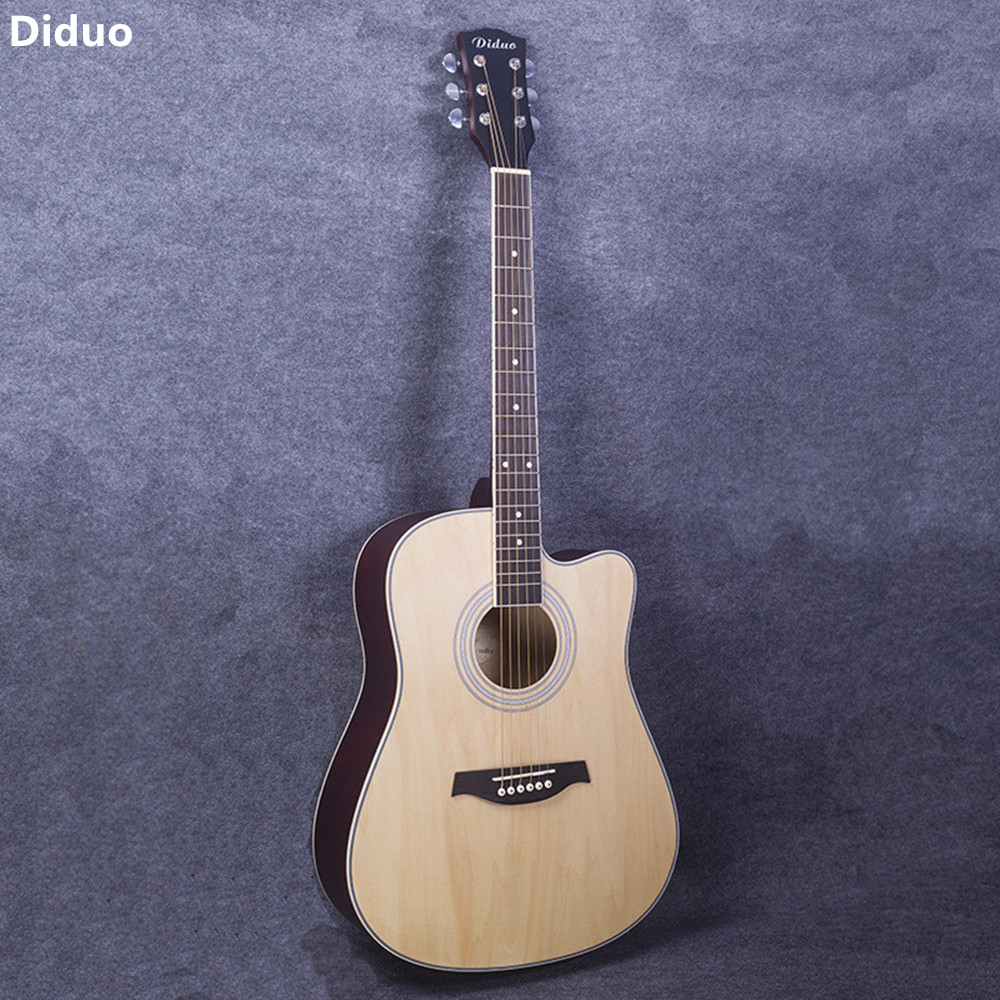 diduo 41 inch acoustic folk 6 string guitar for beginners students gift basswood rosewood closed. Black Bedroom Furniture Sets. Home Design Ideas