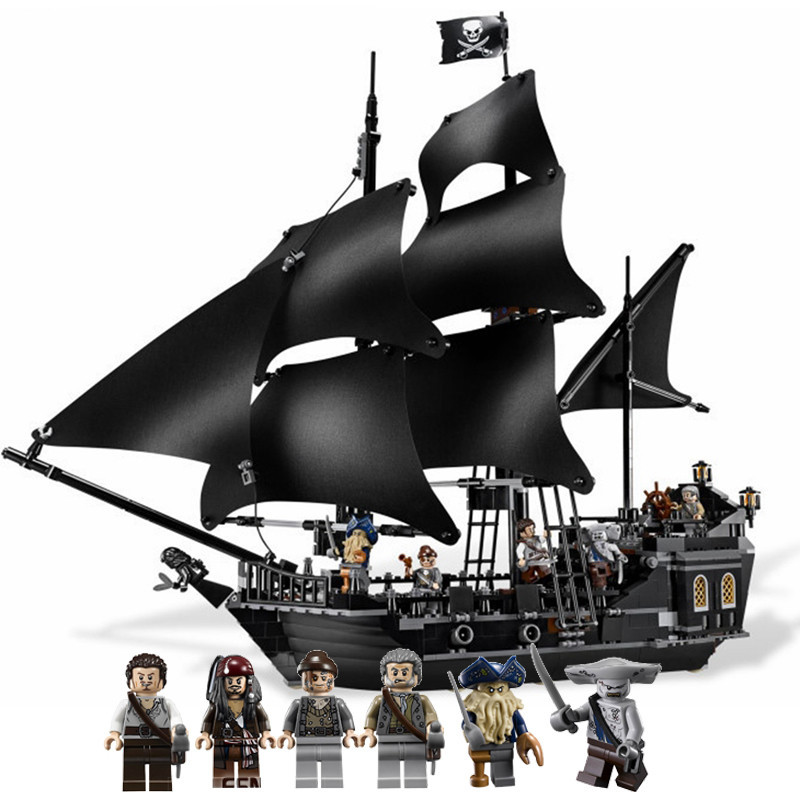 804pcs Building Blocks Bricks Compatible L Brand 4184 Pirates of the Caribbean the Black Pearl Ship model Toys for Children gift