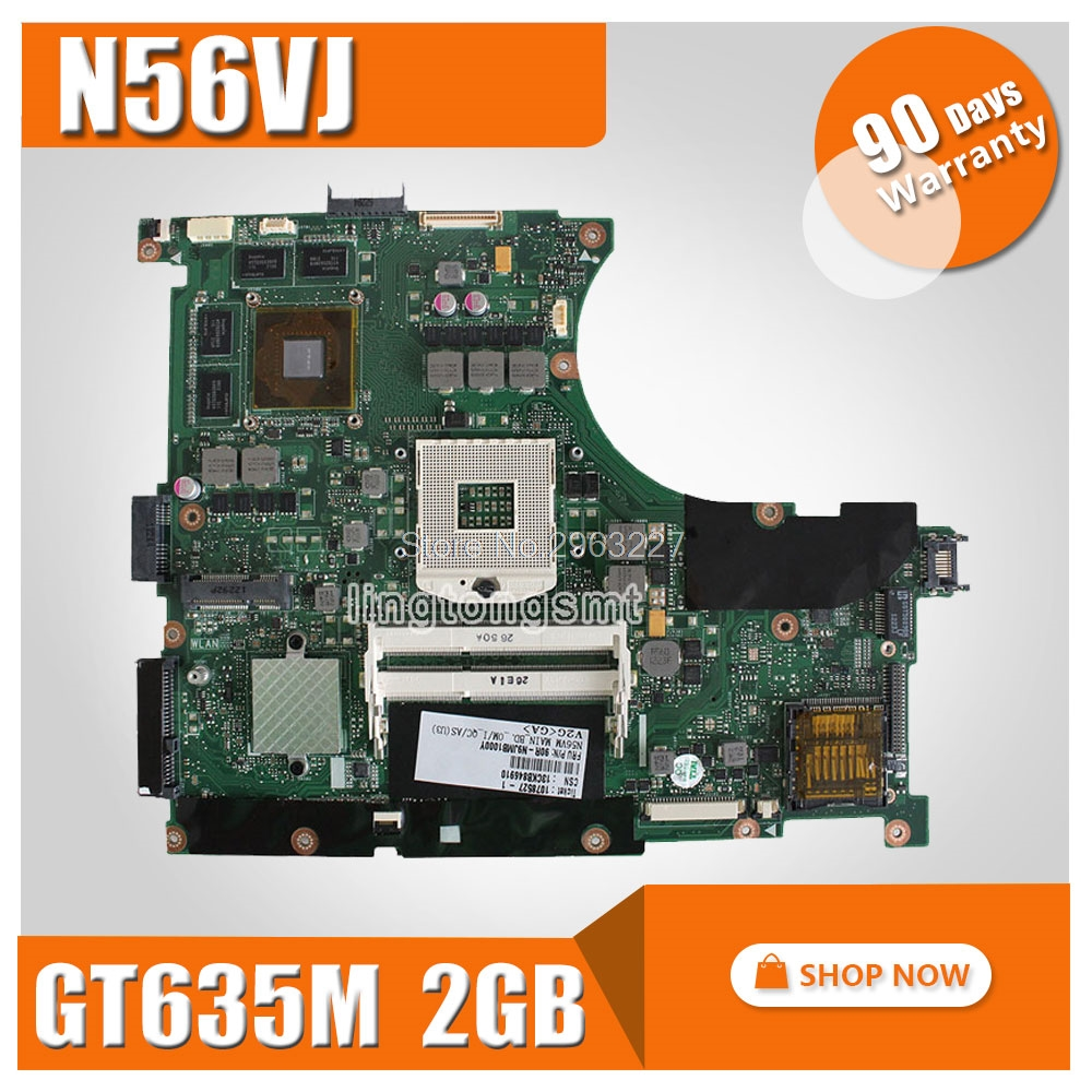 N56VM REV2.3 GT635M/GT630M 2G N13P-GL-A1 Motherboard For ASUS N56VJ Motherboard N56VB N56VZ N56V N56VV Motherboard mainboard for asus n56vj gt635 2gb rev 2 3 graphic n13p gl a1 laptop motherboard fully tested