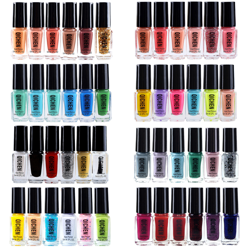 5ml nail art tools quick dry nail polish glitter vernis a ongles 6 bottles lots red white magic