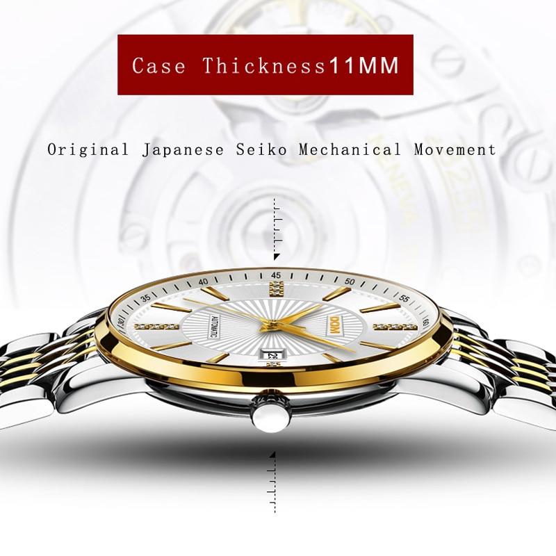 2018 Nuevo Relojes DOM Masculino Automático mecánico Reloj - Relojes para hombres - foto 4