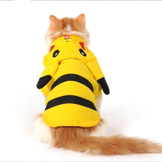 Pikachu Costume For Cats
