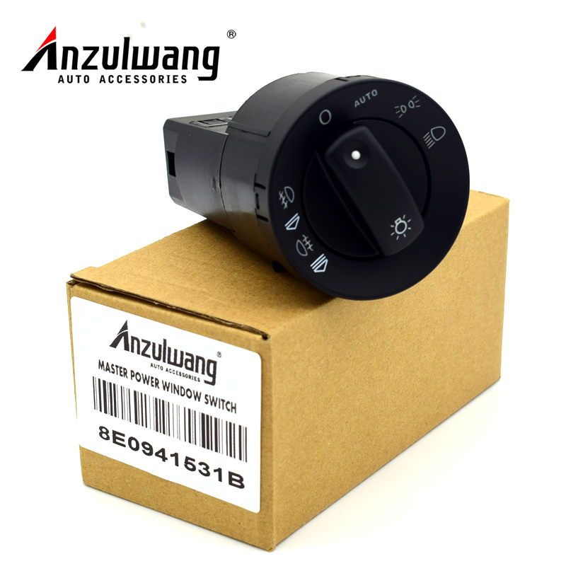 ANZULWANG Car Headlight Control Head Light Fit For Audi A4 8E B6 B7/A4 Avant (00-08) - 17 Pins 8E0941531B 8E0 941 531 B цена