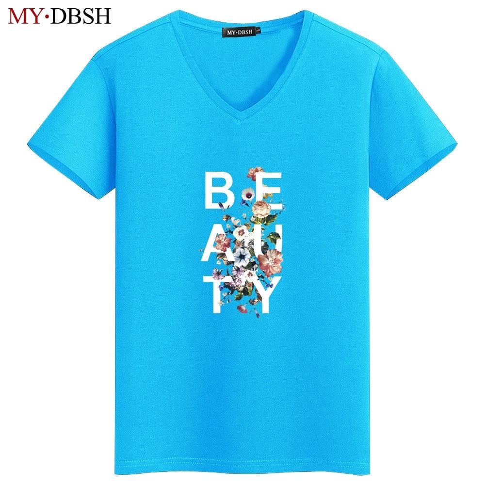 Männer Kurzarm Unterhemden Männer Casual Tee Shirt Casual V-ausschnitt T-shirt Mann Solid Männlichen Blume Gedruckt Unterhemden Größe 5xl