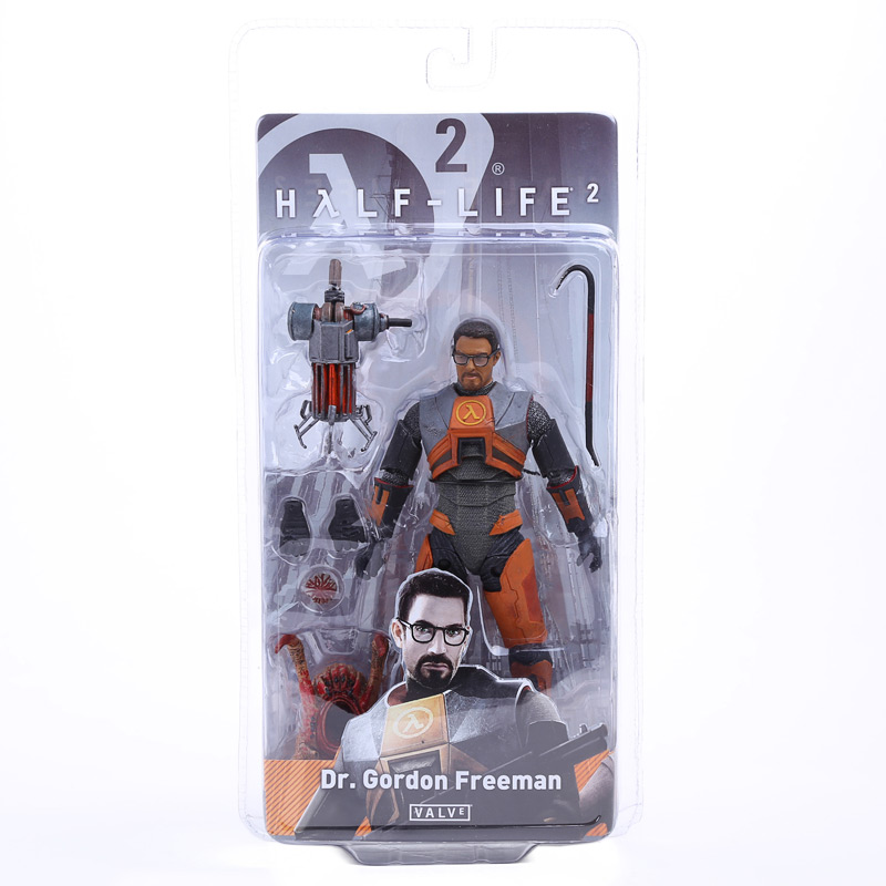 NECA Half Life 2 Dr. Gordon Freeman PVC Action Figure Collectible Model Toy 7 18CM MVFG302 neca the texas chainsaw massacre pvc action figure collectible model toy 18cm 7 kt3703