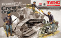 Meng Model HS-005 1/35 French FT-17 Light Tank Crew & Orderly (tank not included)