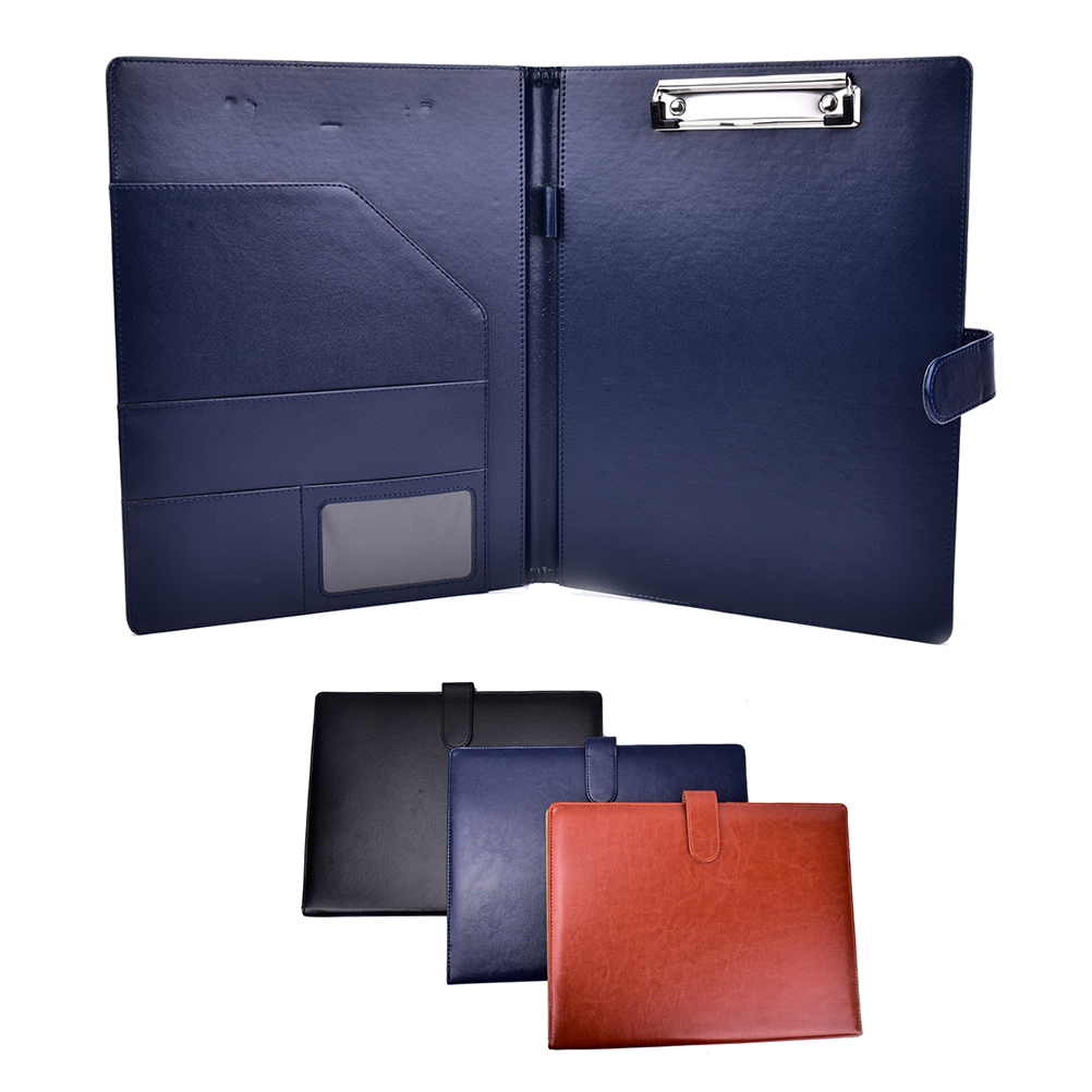 1pcs A4 Document Bag File Folder Clip Board Business Office Financial Waterproof PU Leather Document Filing Bag Stationery Bag