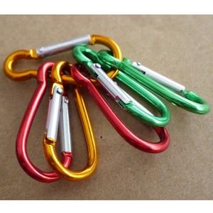 Image 2 - 5pcs צבעוני אלומיניום סגסוגת R בצורת Carabiner Keychain הוק אביב הצמד קליפ קמפינג טיולי טיפוס אבזר נסיעות ערכות