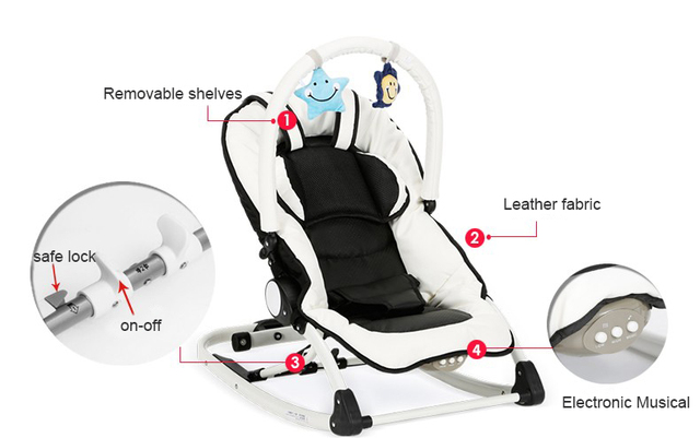 Electrocar Baby Rocking Chair Multifunctional