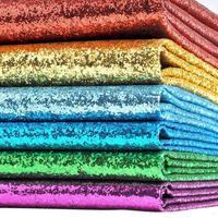 Half Meter Fabric Gliter For Decoration Bags Notebook Metallic Pleated Fabric Glitter Leather Tissu Faux Cuir