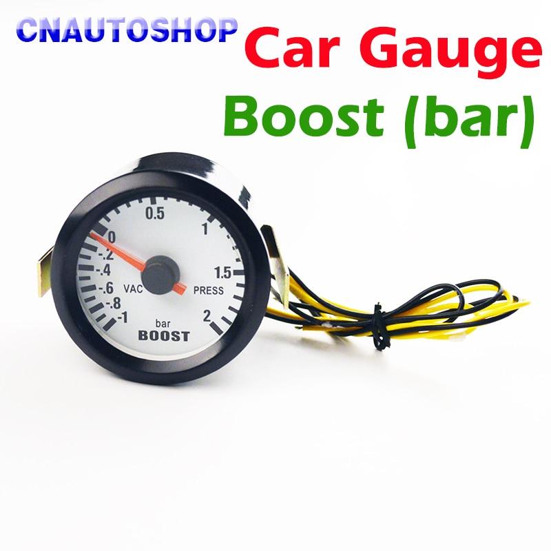 Dragon Gauge 2 52mm Bar / PSI Turbo Boost Car Gauge -1~2 Bar Vacuum Press Meter 12V Black Shell худи print bar electro dragon