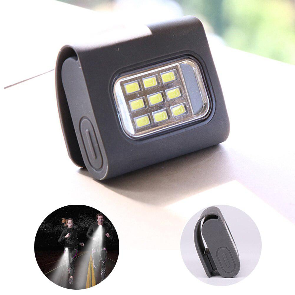 USB Charging COB LED Clip-on Work Light Magnetic Hook Portable Inspection Engineering Spotlight Night Running Riding Light Lamps