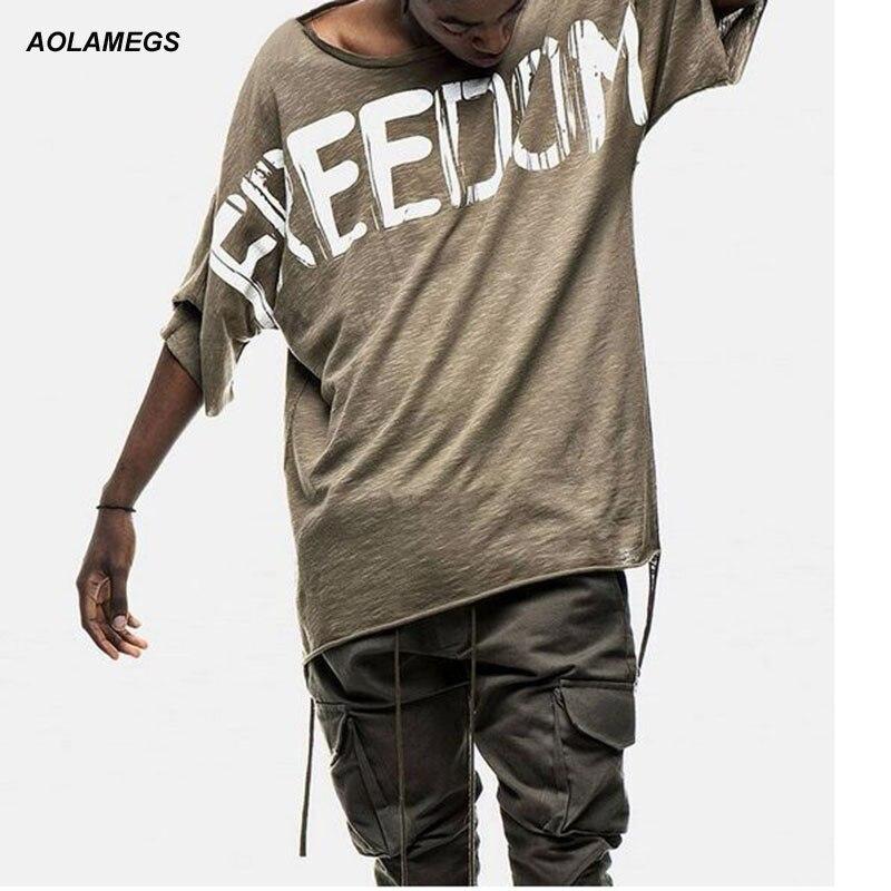Men t shirt letter printed antiwar world peace oversize loose tee hip hop tops GD clothing 2016 short-sleeved tshirt homme S-XL