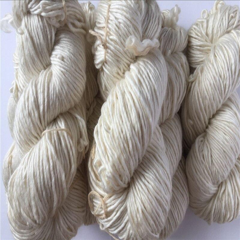 ฟรีshiping 500กรัม/ล็อตundyed 50%ผ้าไหม50% merinoไหมพรมมือผ้าไหมmerinoไอซ์แลนด์เส้นด้าย-ใน ไหมพรม จาก บ้านและสวน บน   3