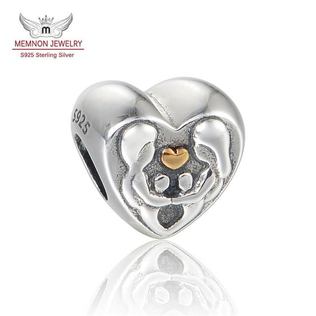 Lo nuevo de La Vendimia En Forma de Corazón de Plata Encanto 925-Sterling-Silver encantos cupieron la pulsera del collar de DIY regalo Joyería fina LW644