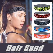Спортивные резинки Sweatband Абсорбент Йога Hairband 1 шт. бренд кроссовки открытый Фитнес хлопок оголовье анти пот диапазон волос