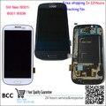 """4.8 """"para samsung galaxy s iii s3 neo i9300i i9308i i9301 original display lcd de toque digitador da tela + frame azul/branco navio livre"""
