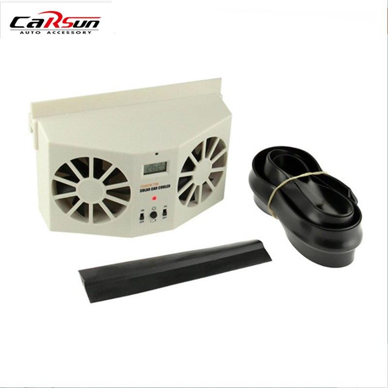 2017 Nouveau 2 W Ventilateur Solaire Sun Power Car Auto Air Vent frais Fan Cooler Radiateur Système de Ventilation Peuvent Utiliser La Batterie De Voiture Air purificateurs