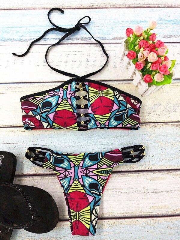 2017 новые пикантные Для женщин Купальники для малышек бандаж пляж бикини купальный костюм бразильский комплект бикини Maillot De Bain biquini