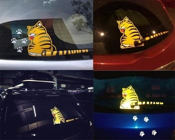 Kreskówki śmieszne kot ruchu ogon samochód naklejki odblaskowe naklejki dla Renault KWID Laguna szerokość geograficzna Logan Megane RS Safrane Sandero