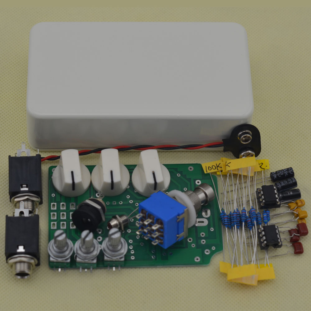 DIY Overdrive Guitar Effect Pedal With 1590B True Bypass OD2 Kits W diy booster boost clean guitar effect pedal boost true bypass booster kits fp