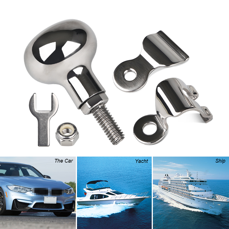 Image 5 - Stainless Steel Boat Marine Steering Wheel Knob Power Handle For Heavy Duty Truck Yacht Steering Wheel Handle Turning Control-in Marine Hardware from Automobiles & Motorcycles