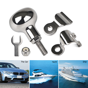 Image 5 - Stainless Steel Boat Marine Steering Wheel Knob Power Handle For Heavy Duty Truck Yacht Steering Wheel Handle Turning Control