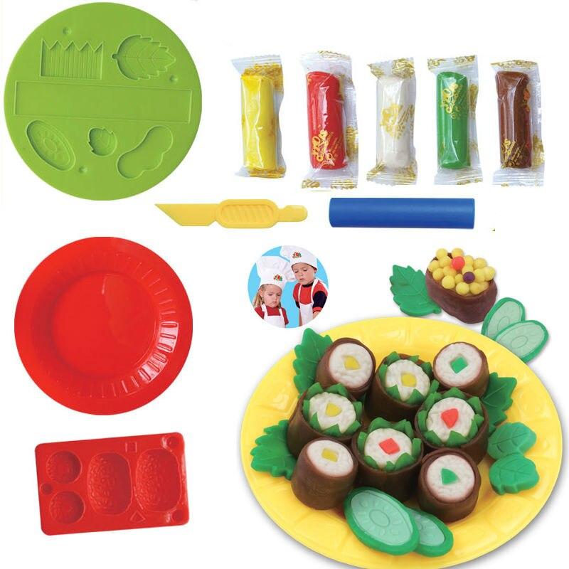 Toys & Hobbies Honest 3d Intelligent Toy Sushi Set Mold Parent-child Interactive Toys Plasticine Playdough Clay Suit Diy