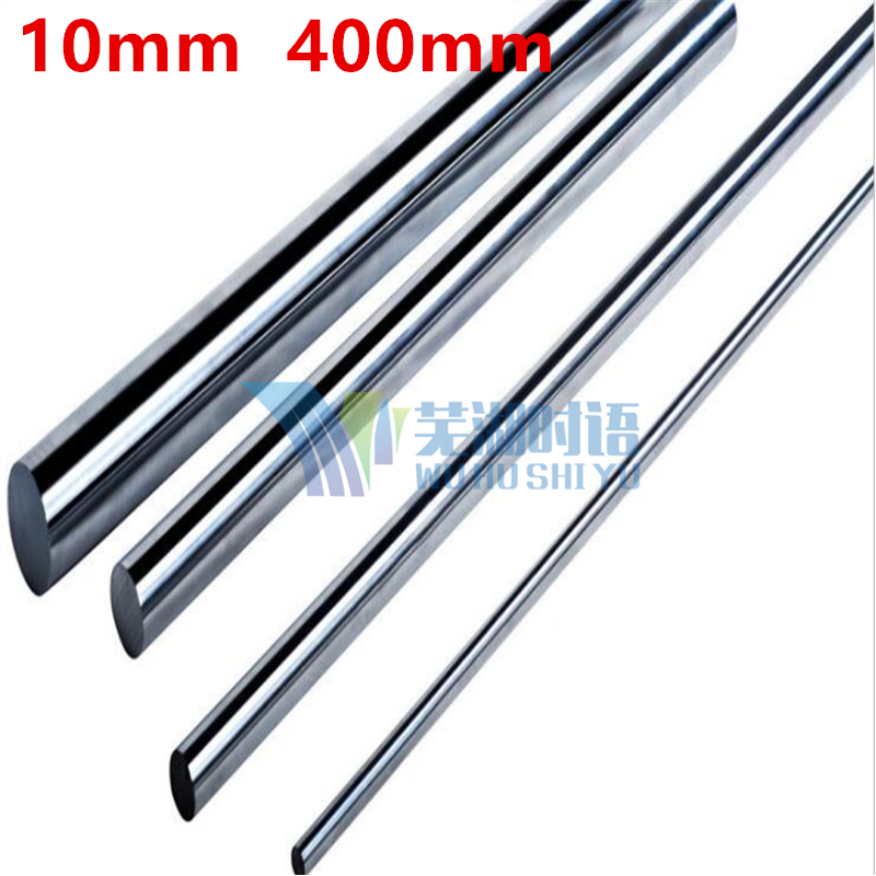 Free shipping 10mm linear shaft 400mm long diameter 10mm linear shaft harden chrome plated CNC XYZ part 10mm round rod диски helo he844 chrome plated r20