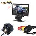 """Bemtoo 7 """"polegadas monitor de espelho retrovisor do carro tela lcd de 170 graus câmera reversa rear view camera de backup veículo câmera"""