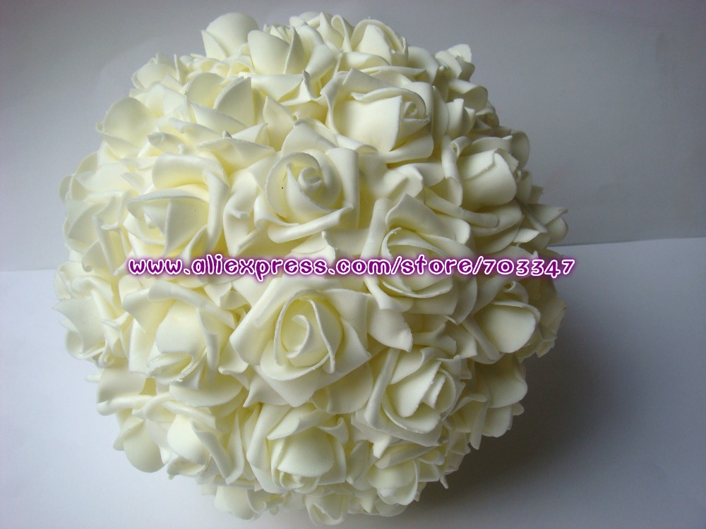 "9"" 23CM Artificial Foam Rose Flower Kissing ball  wedding table centre Decorative Flowers & Wreaths (8pcs/lot)  *FREE SHIPPING*"