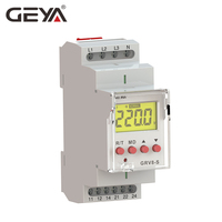 Free Shipping GEYA GRV8 S 3 Phase Digital Display Voltage Relay 8A 2SPDT Monitoring Phase Relay Auto Reset LCD Relay
